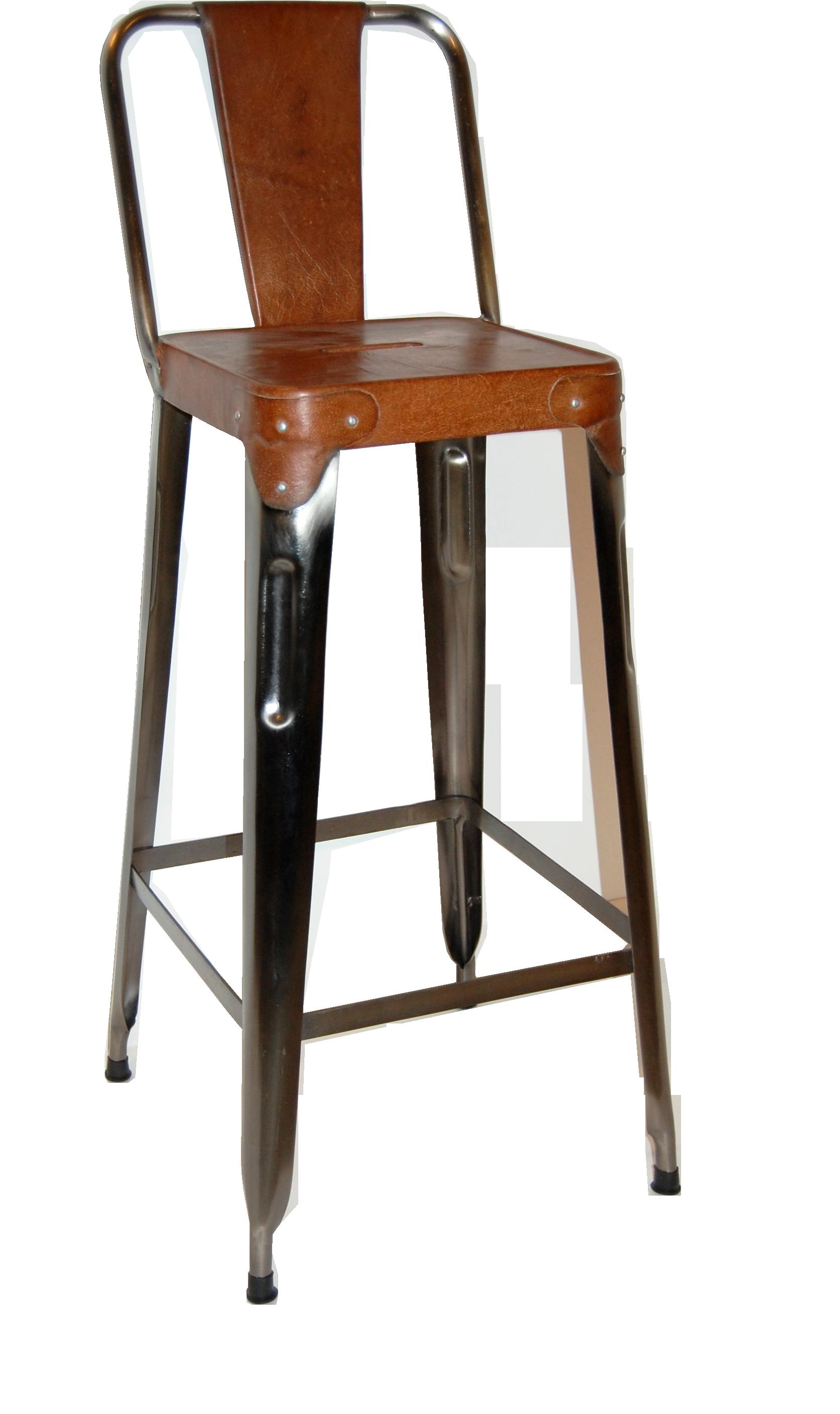 Trademark living barhocker aus eisen mit ledersitz for Barhocker mit ledersitz